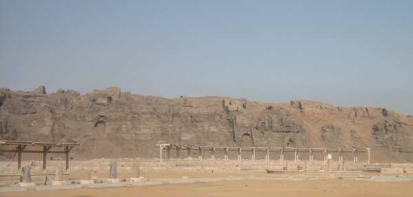 edf1-07-View-of-western-FIP-enclosure-wall-from-north-quarry-temple-of-edfu
