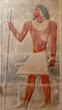 The Vizier Kagmeni, from his tomb at Saqqara.