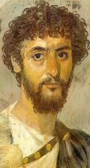 A Roman portrait made in beeswax