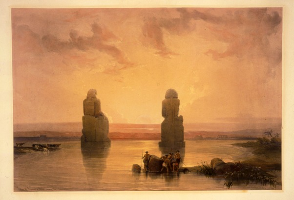 Statues_of_Memnon_at_Thebes_during_the_flood-David_Roberts