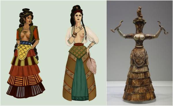 102. minoan priestess - deviantart