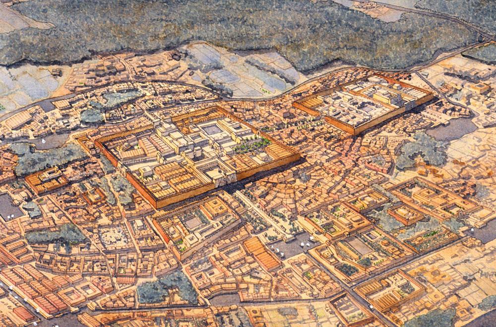egypte-mephis-temple-Ptah-palais-jc-golvin