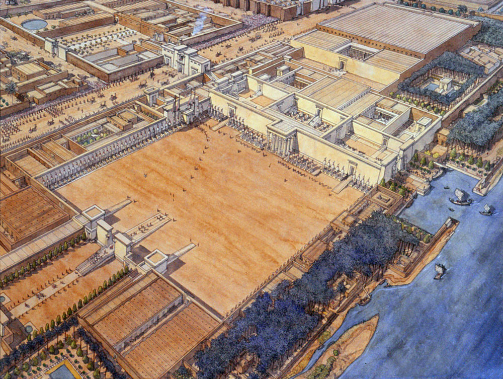 114. Palace view (J.C. Golvin)