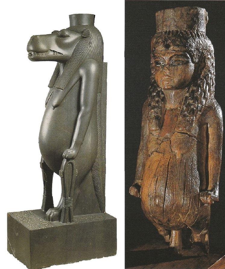 120. Taweret statues (Wilkinson 185)