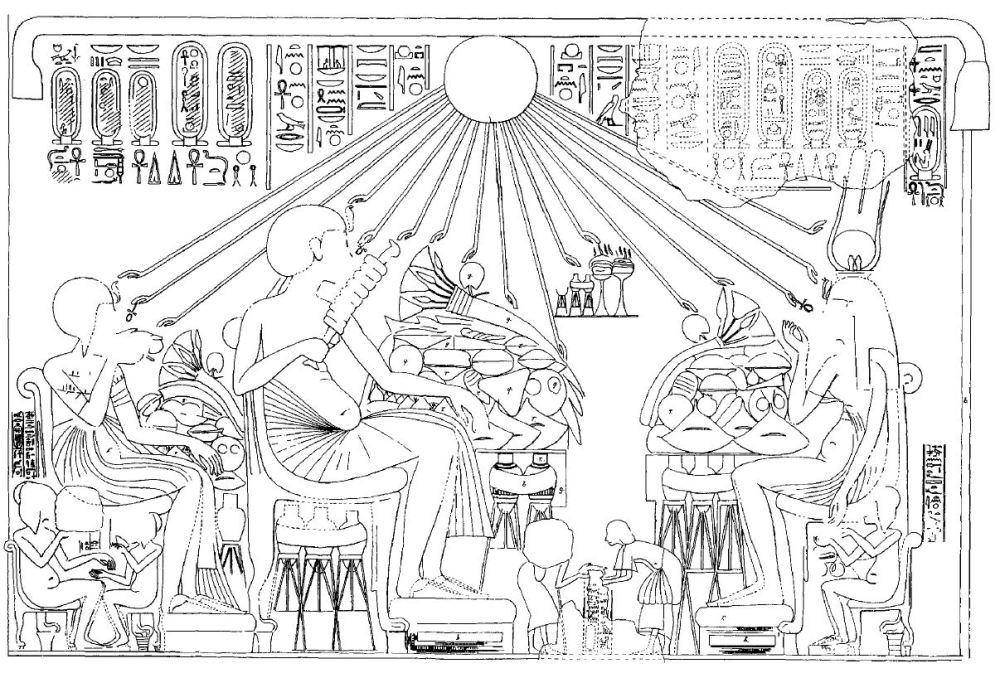 120. Tiye banquet Huya (Arnold 1996 fig 110)
