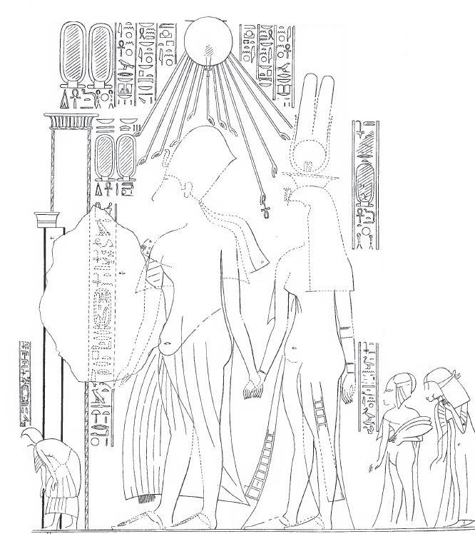 120. Tiye visit Amarna (Davies 3 plate viii)b