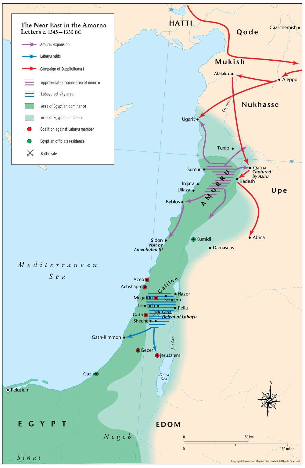 Maps - Map Archive D18 Canaan-3 Amarna